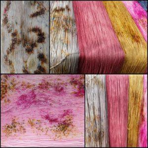 Sprenkel gefärbt mit Faserliebe